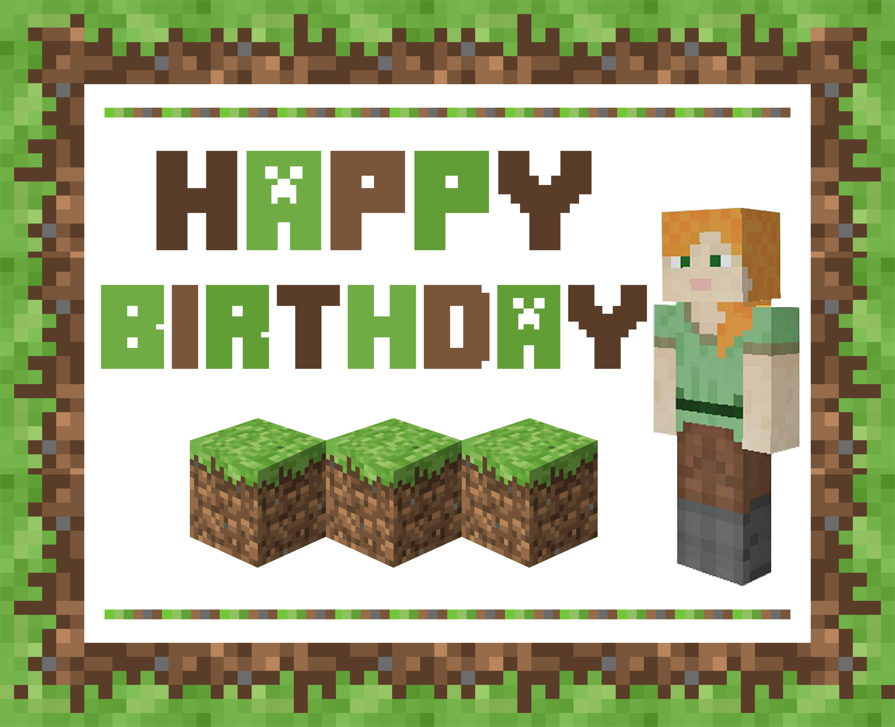photograph about Minecraft Birthday Banner Free Printable identify No cost Amazing Alex Minecraft Printables for gals Capture My