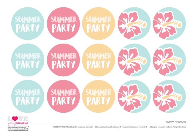 Free Summer Party Printables Catch My Party