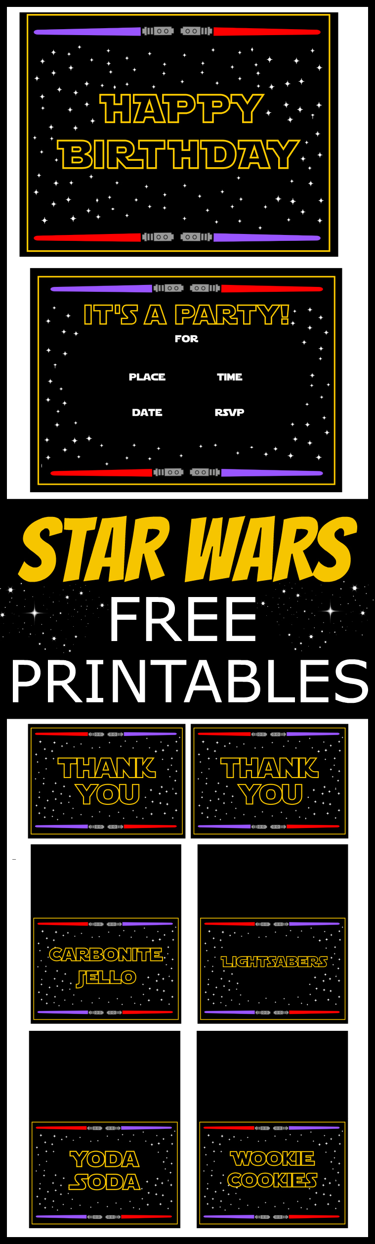 It's just a picture of Bewitching Star Wars Printable Cards