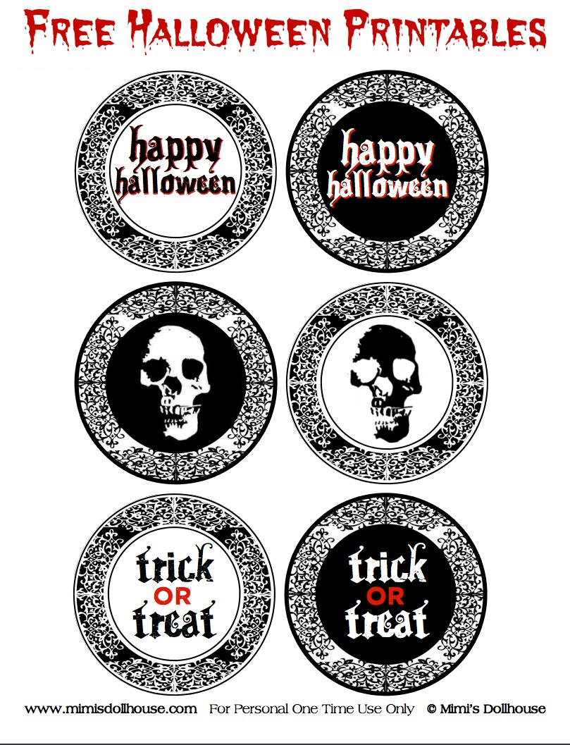 Free Creepy Halloween Printables | Catch My Party