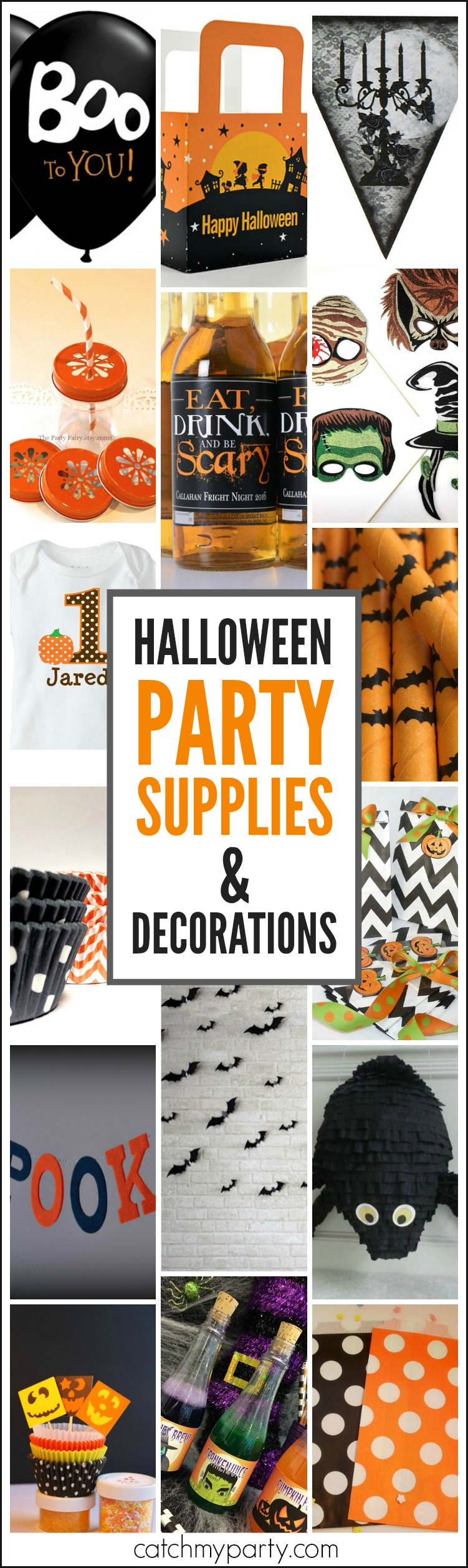 Halloween party supplies and decorations roundup catch for Halloween party favor ideas