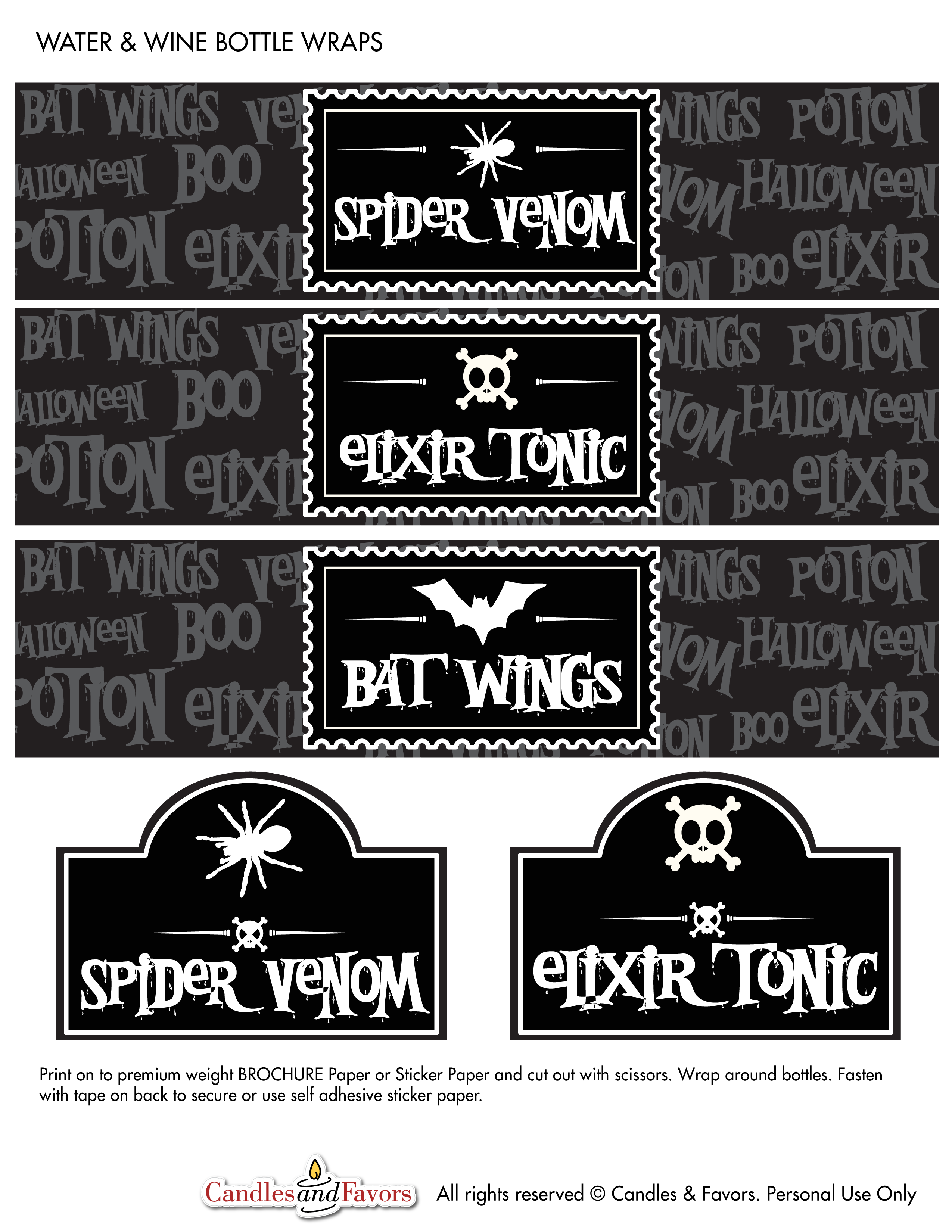 Venom and Potions Free Halloween Party Printables | Catch My Party