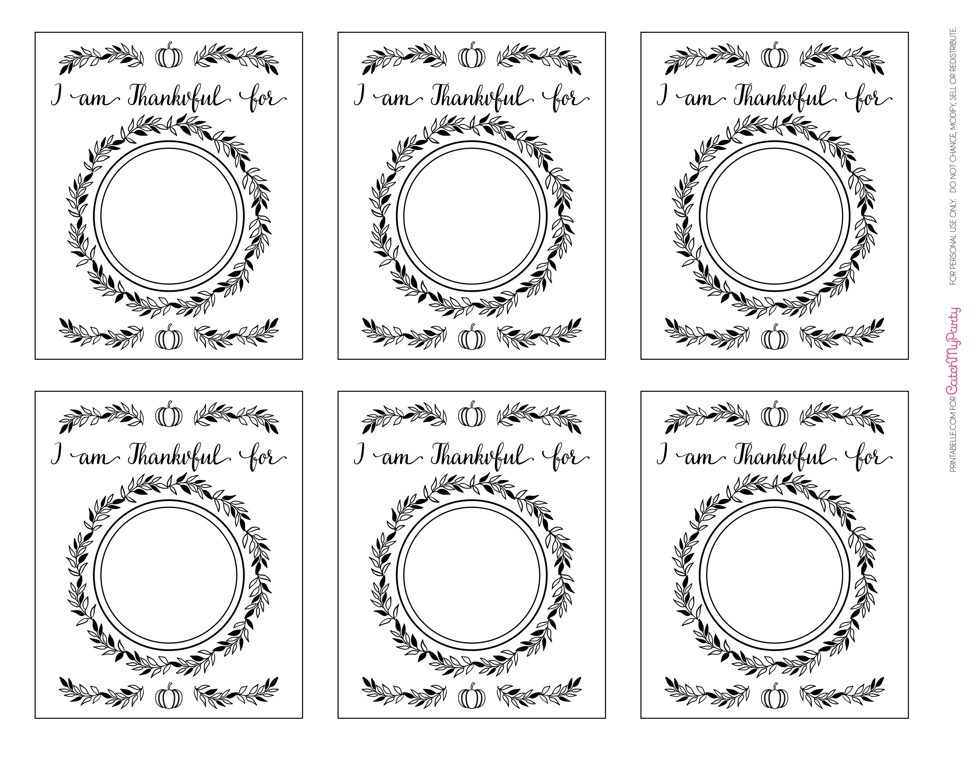 image regarding Thankful Printable referred to as No cost Printable \