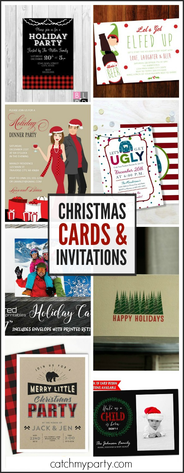 My Favorite Christmas Invitations and Christmas Cards | Catch My Party