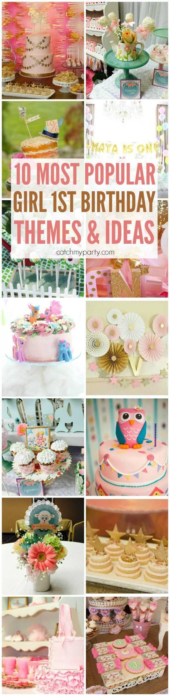 ... the 10 most popular girl 1st birthday themes & ideas on our site
