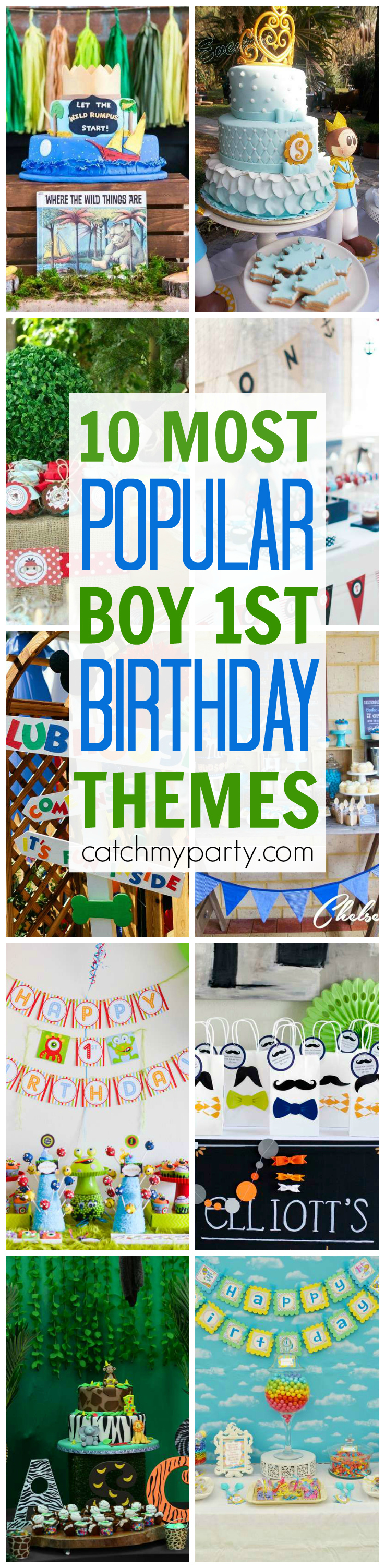 10 Most Popular Boy 1st Birthday Party Themes Catch My