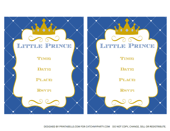 Free Prince Party Printables | Catch My Party