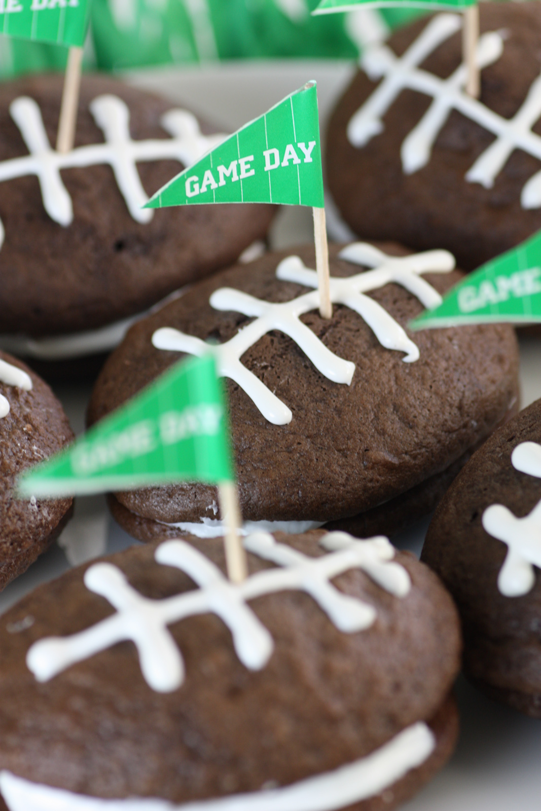 Easy Game Day Football Whoopie Pies Catch My Party