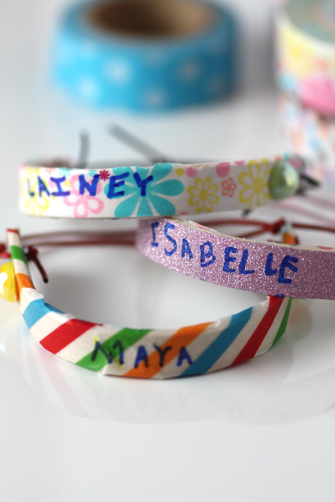 Washi Tape Popsicle Bracelet DIY | Catch My Party