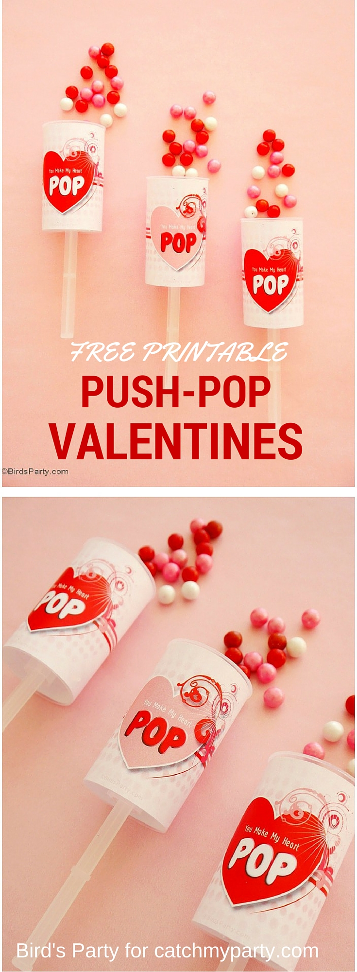 Free Valentine's Day Push Pop Printables