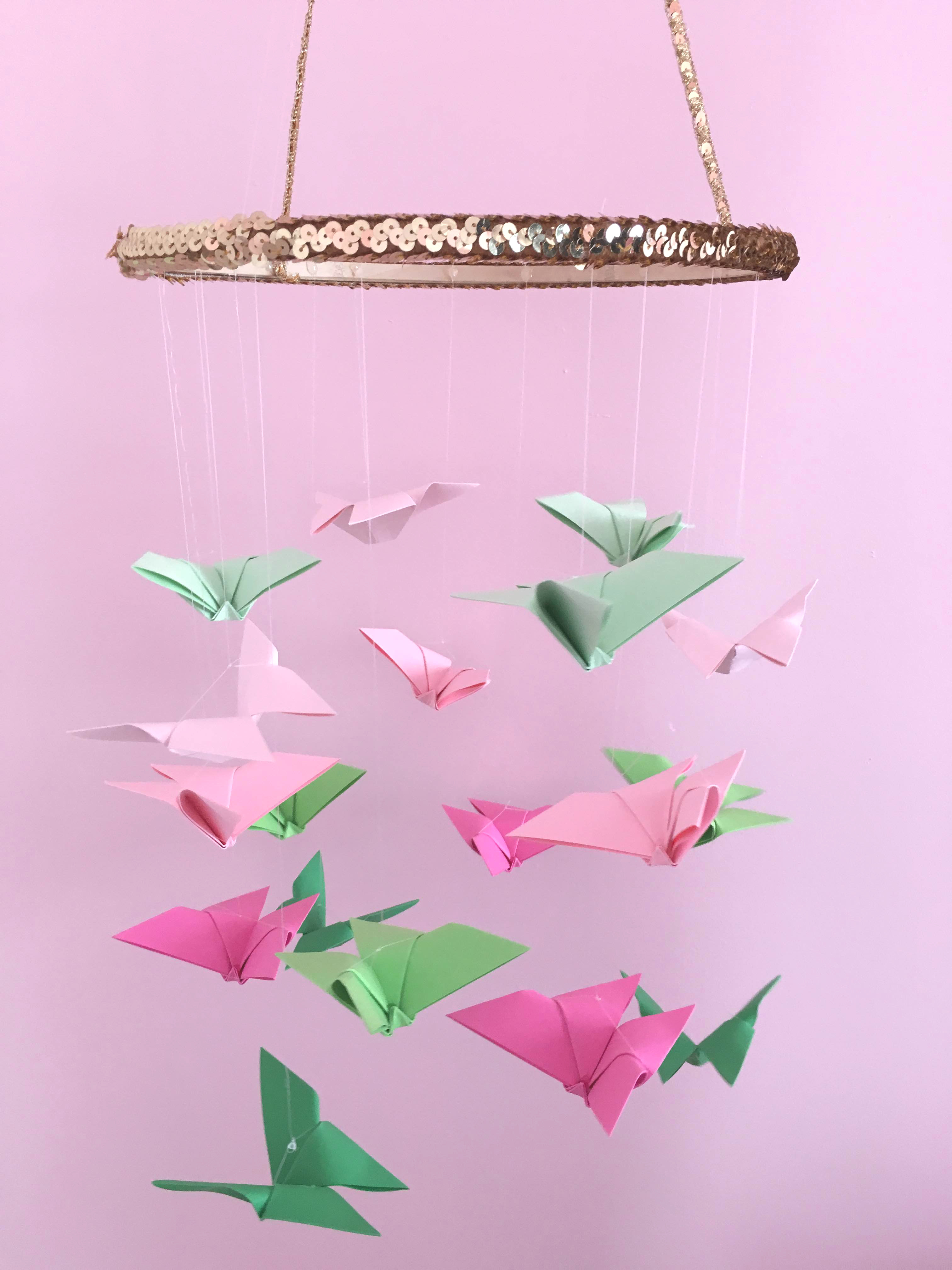 Glam Origami Butterfly Chandelier