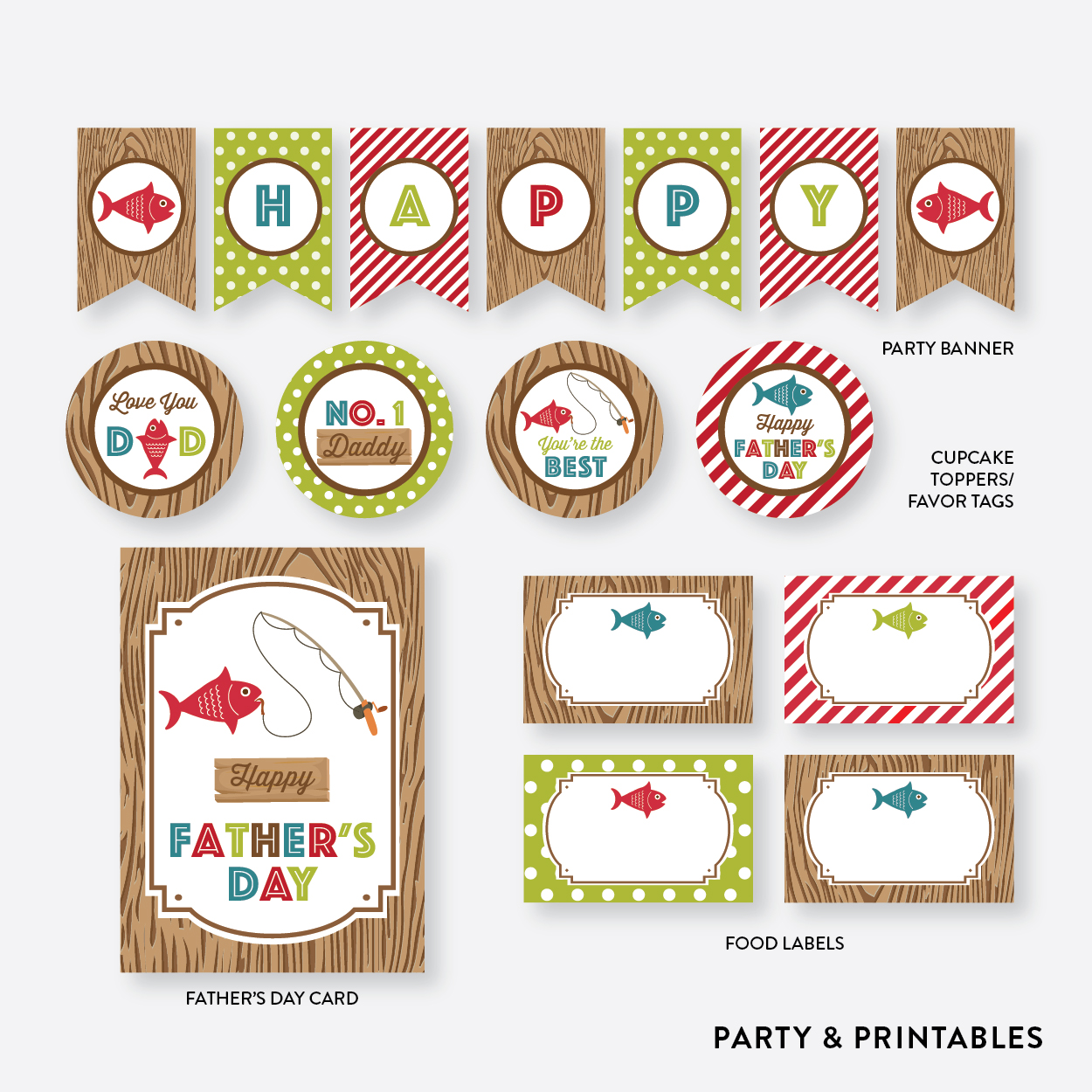 picture about Free Printable Fathers Day Tags named I Enjoy Fishing Fathers Working day Free of charge Printables Capture My Celebration