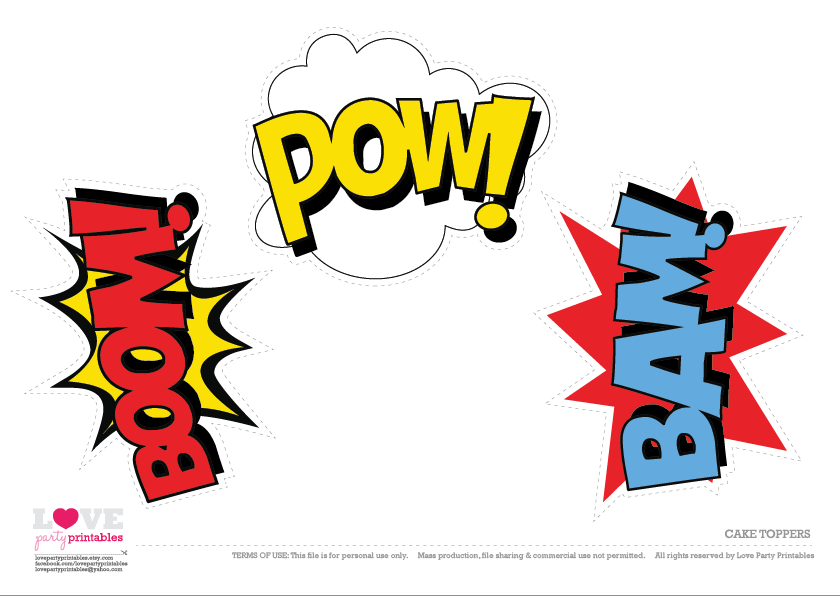 free superhero party printables catch my party