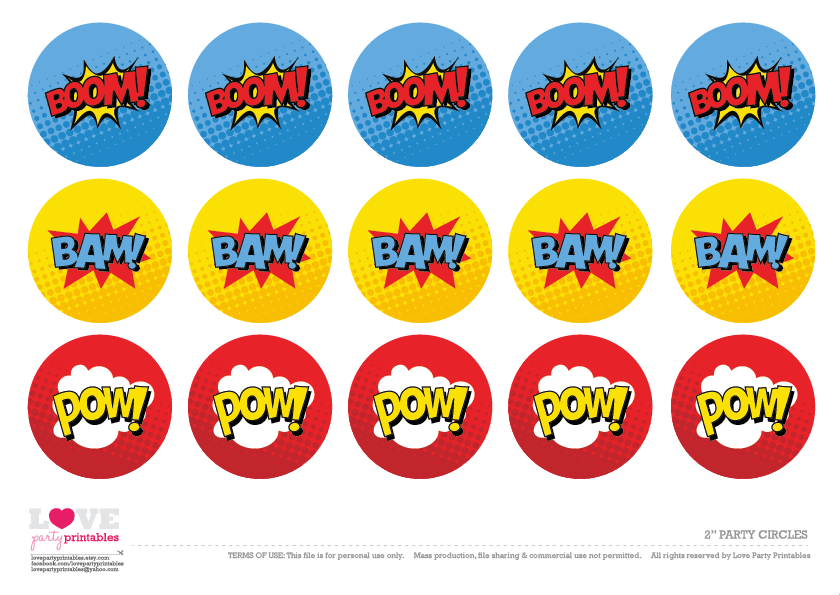 Massif image throughout super hero printable
