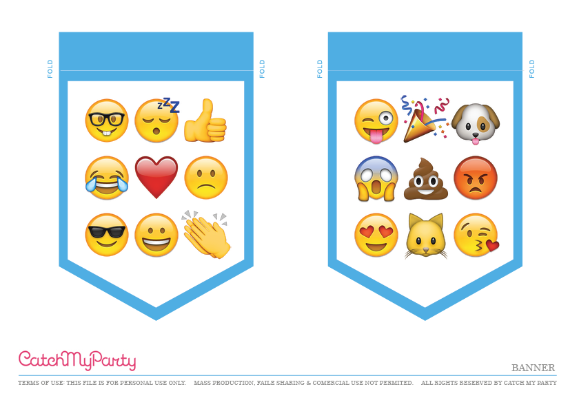 Free Emoji Party Printables