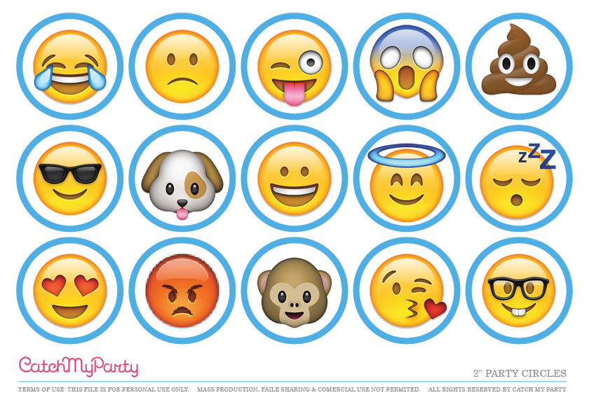 graphic about Free Printable Emojis called Totally free Emoji Celebration Printables for an Unbelievable Occasion! Capture My