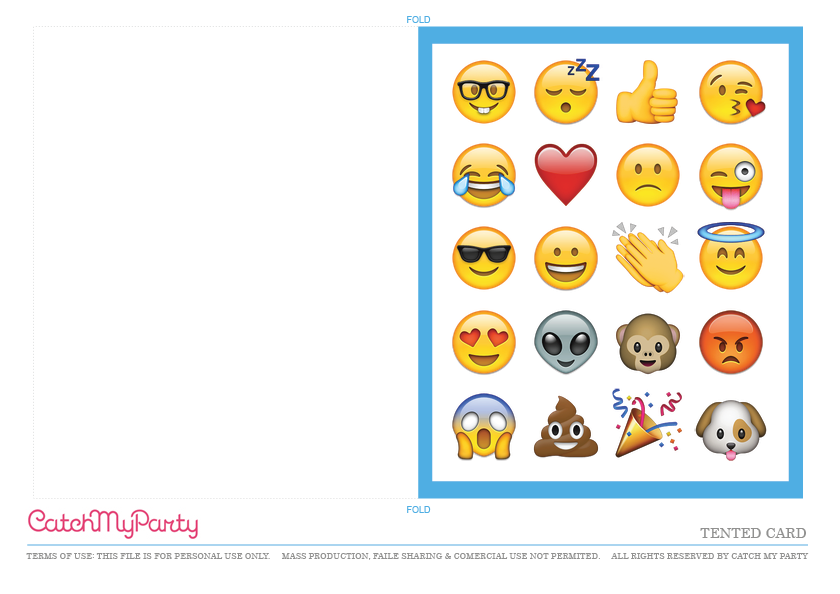 Free Emoji Party Printables | Catch My Party