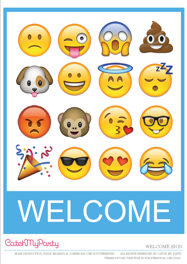 graphic relating to Free Printable Emojis named No cost Emoji Social gathering Printables for an Outstanding Social gathering! Capture My
