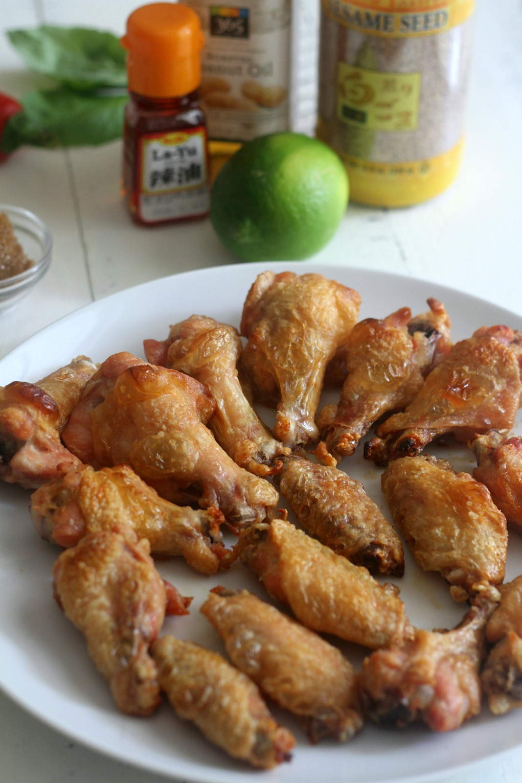 Crispy Spicy Baked Chicken Wing Ingredients | CatchMyParty.com