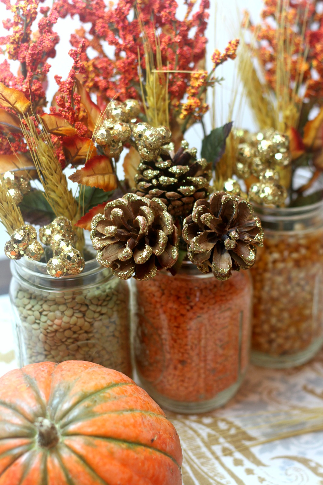 Rustic floral centerpiece for fall catch my party