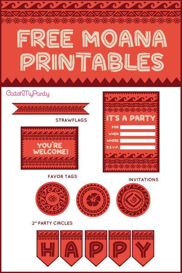 photo relating to Printable Moana named Free of charge Disney Moana Printables For Birthday Get-togethers Capture My