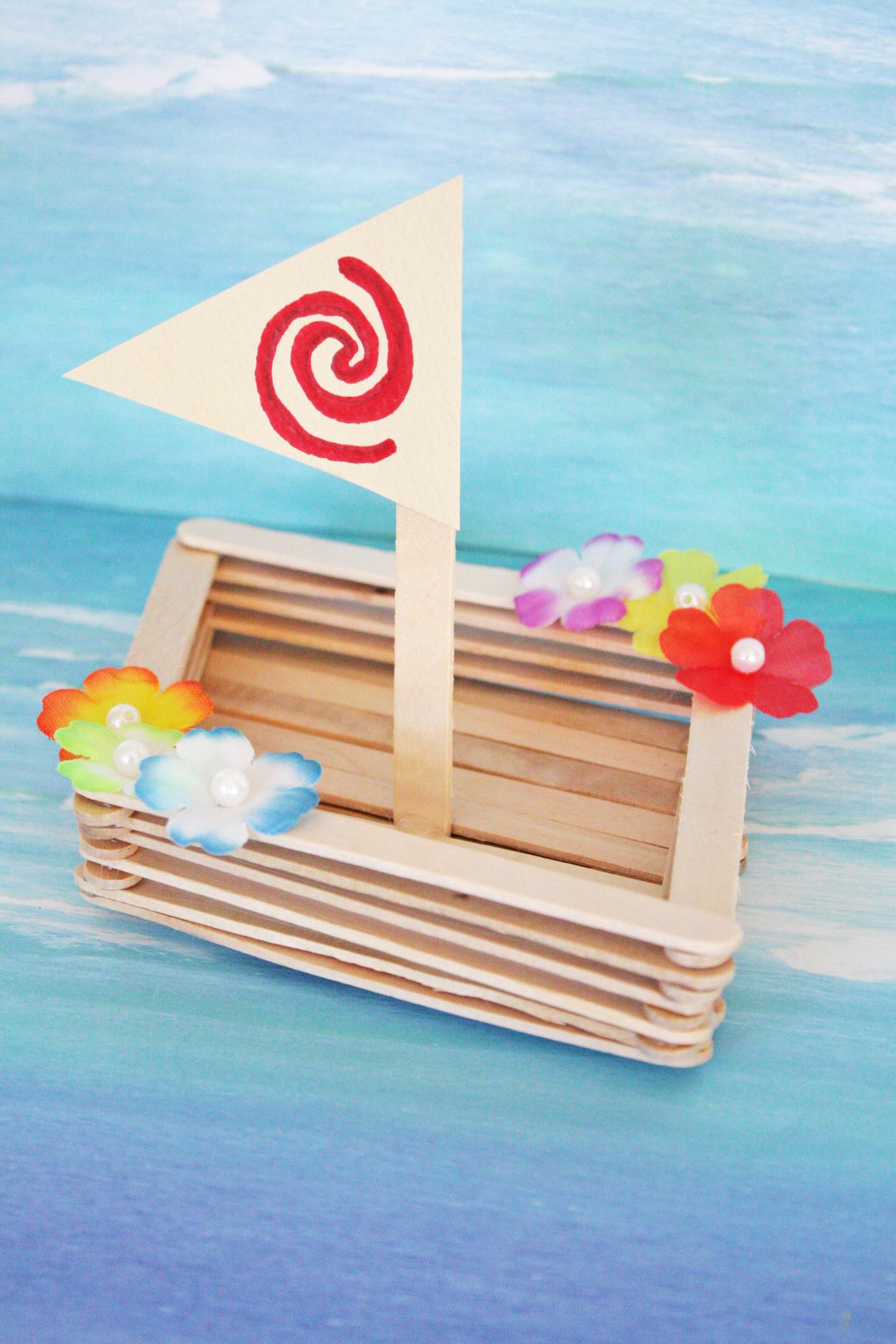 Moana Canoe Craft Catch My Party