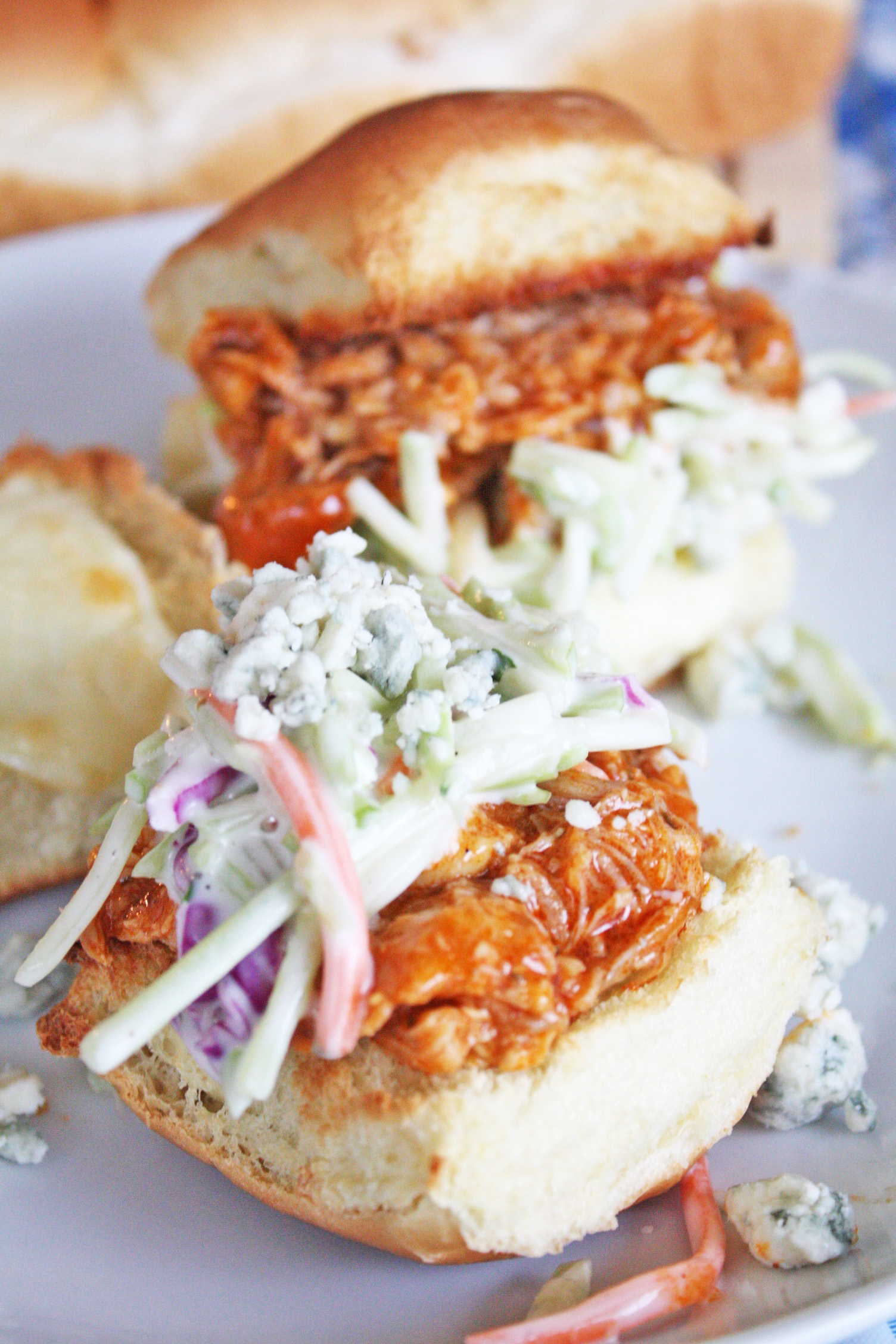 Crockpot Buffalo Chicken and Blue Cheese Sliders | Catch ...