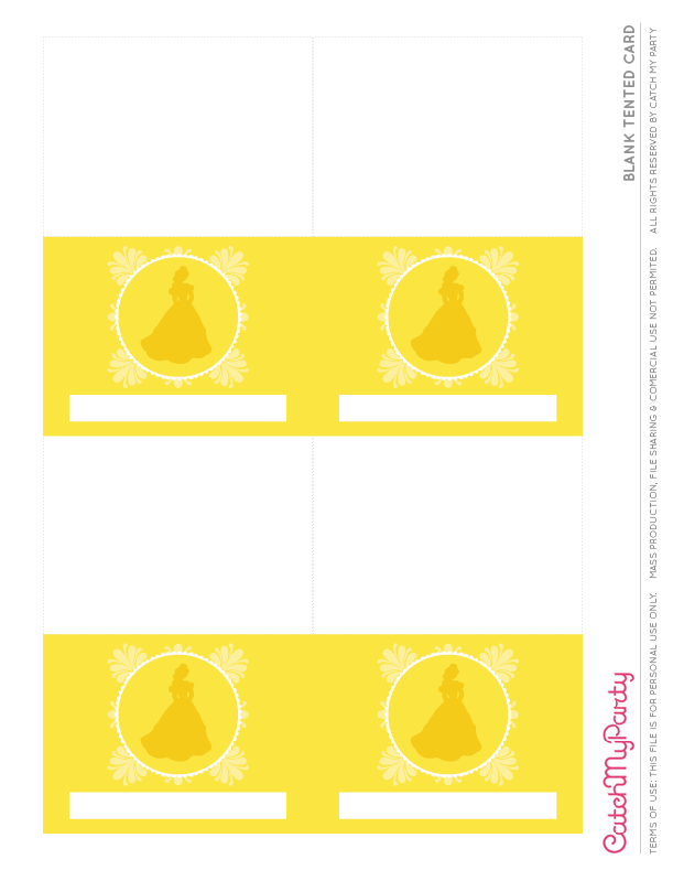 free beauty and the beast printables for birthday parties