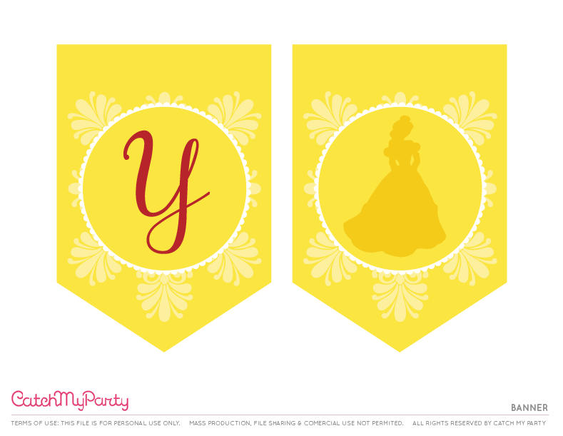 image relating to Free Printable Beauty and the Beast Birthday Invitations named Absolutely free Attractiveness and the Beast Printables For Birthday Functions