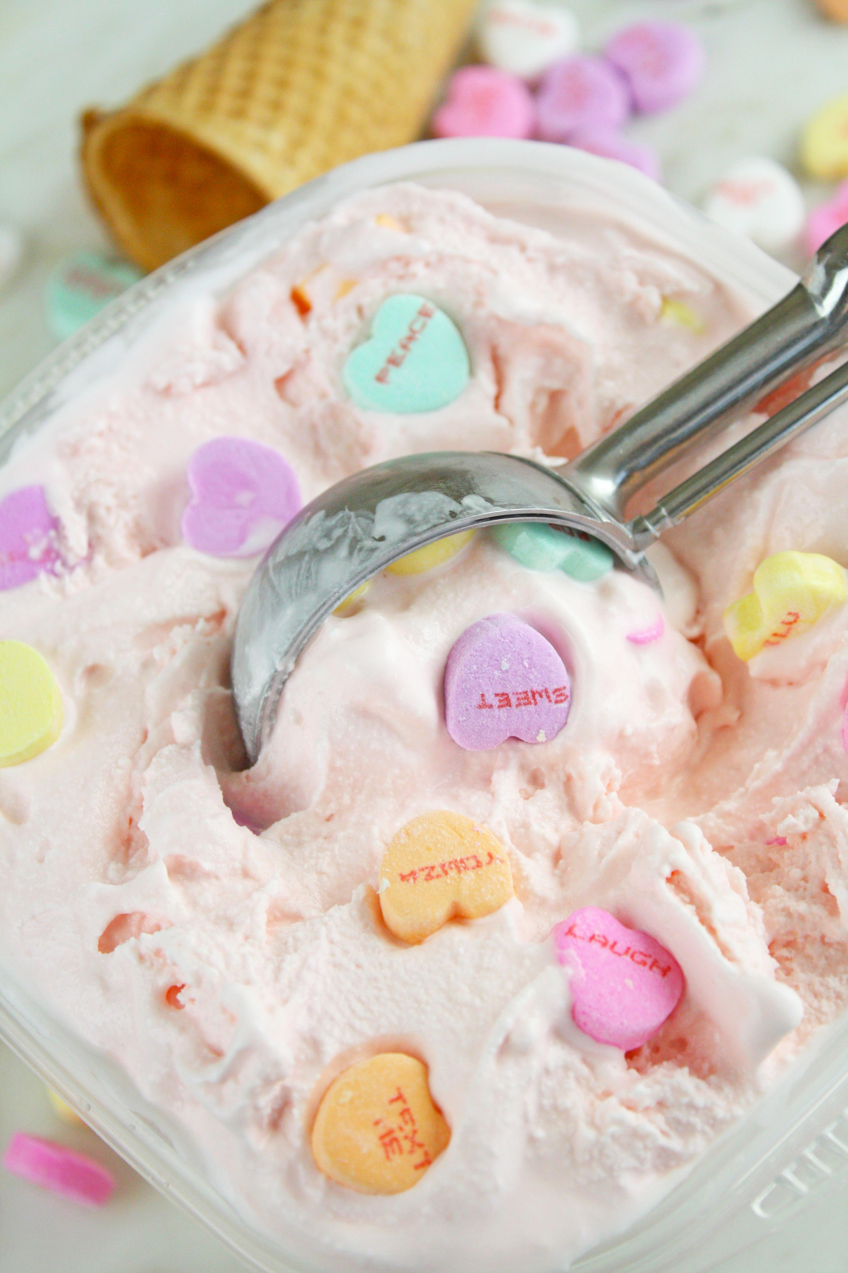 Conversation Hearts Ice Cream Recipe Catch My Party